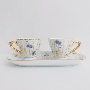 Collectible Limoges Doll Dishes Cups and Saucer